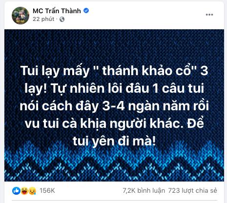Bị kéo vào scandal của Sơn Tùng M-TP và Thiều Bảo Trâm, Trấn Thành bức xúc lên tiếng - Ảnh 3.