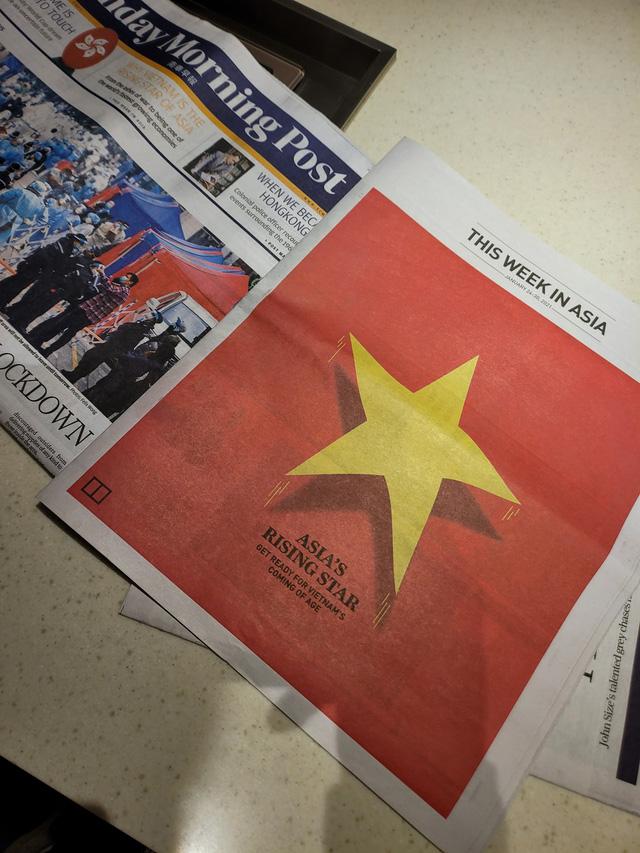 Báo quốc tế in quốc kỳ Việt Nam trên nguyên trang và dành 6 trang nói về Ngôi sao đang lên của châu Á  - Ảnh 1.