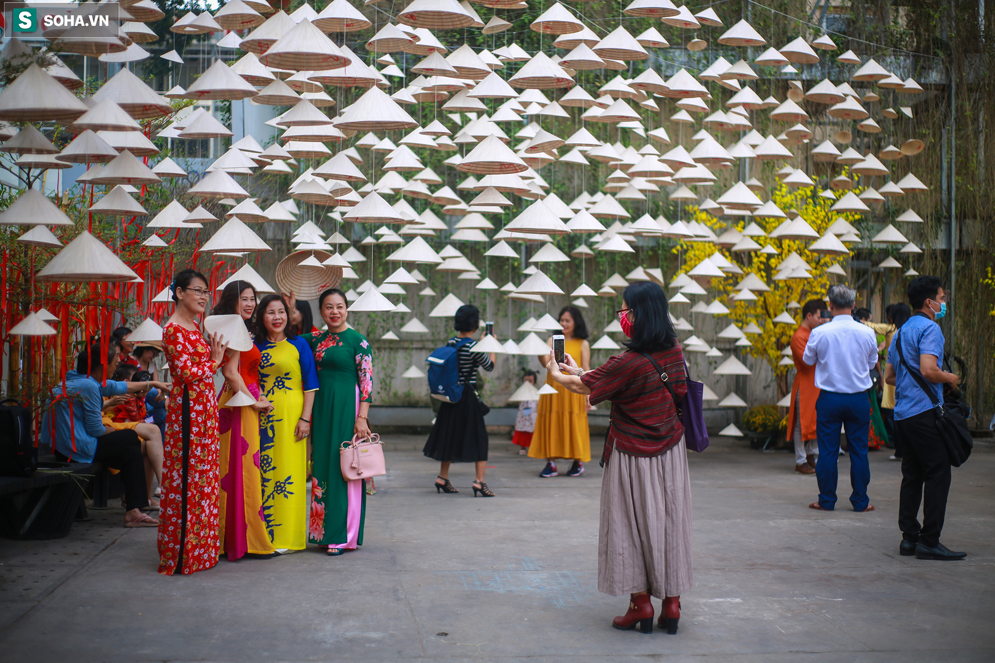 [Ảnh] Thiếu nữ Sài Gòn xinh đẹp xúng xính áo dài check-in sống ảo ở con đường hoa mai - Ảnh 11.