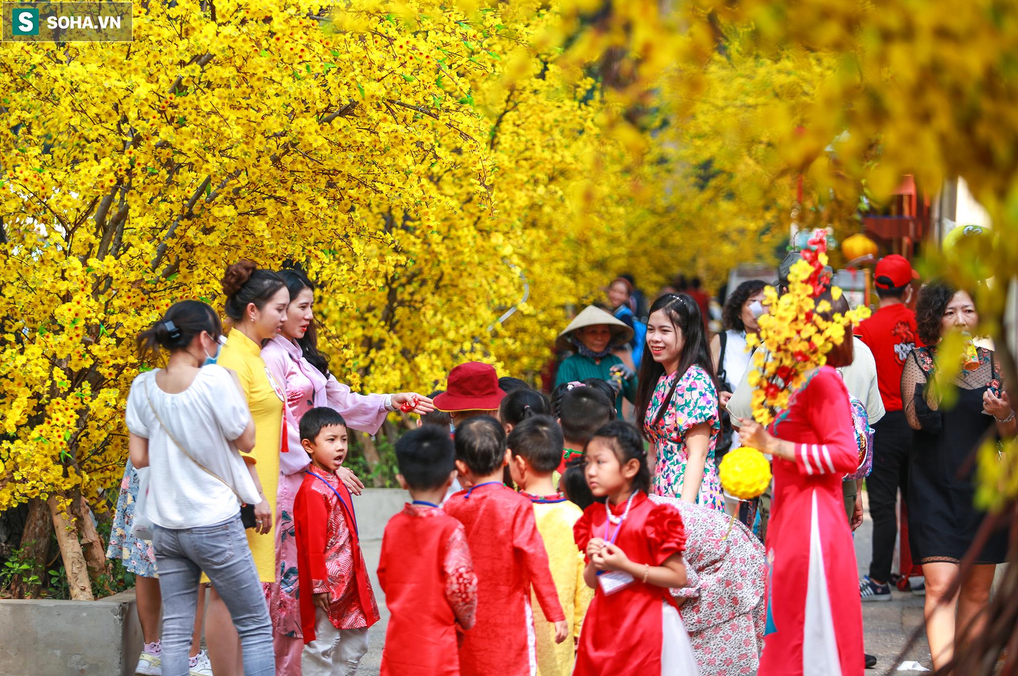 [Ảnh] Thiếu nữ Sài Gòn xinh đẹp xúng xính áo dài check-in sống ảo ở con đường hoa mai - Ảnh 9.