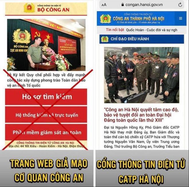 Tin tặc gắn mã độc vào trang web giả mạo Cổng thông tin của Công an Hà Nội - Ảnh 1.