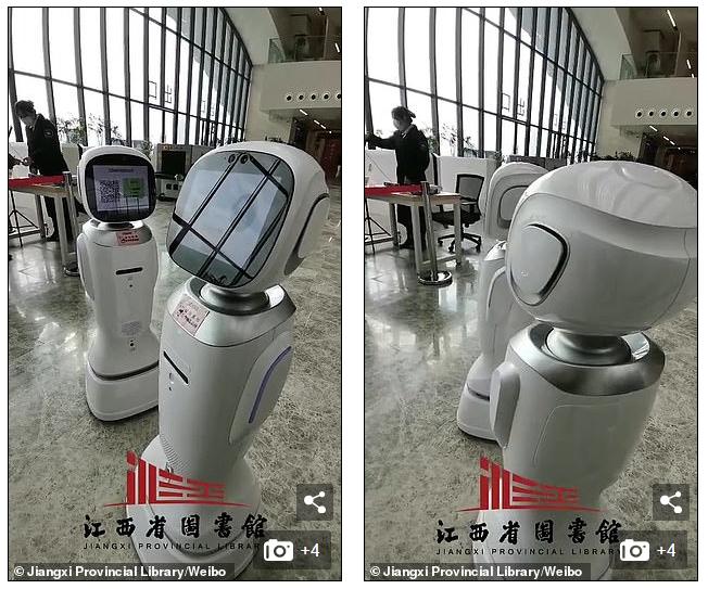 Đi thư viện, dân tình cười bò chứng kiến cảnh 2 con robot cãi nhau, con này chê con kia xấu tính - Ảnh 1.