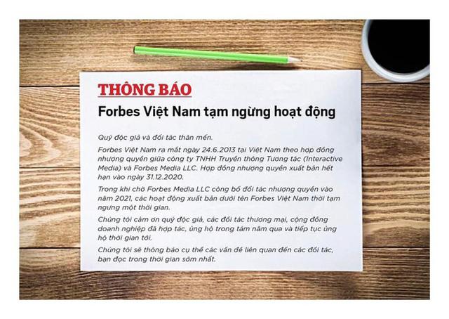 Forbes Việt Nam ngừng hoạt động, website không còn truy cập được - Ảnh 1.