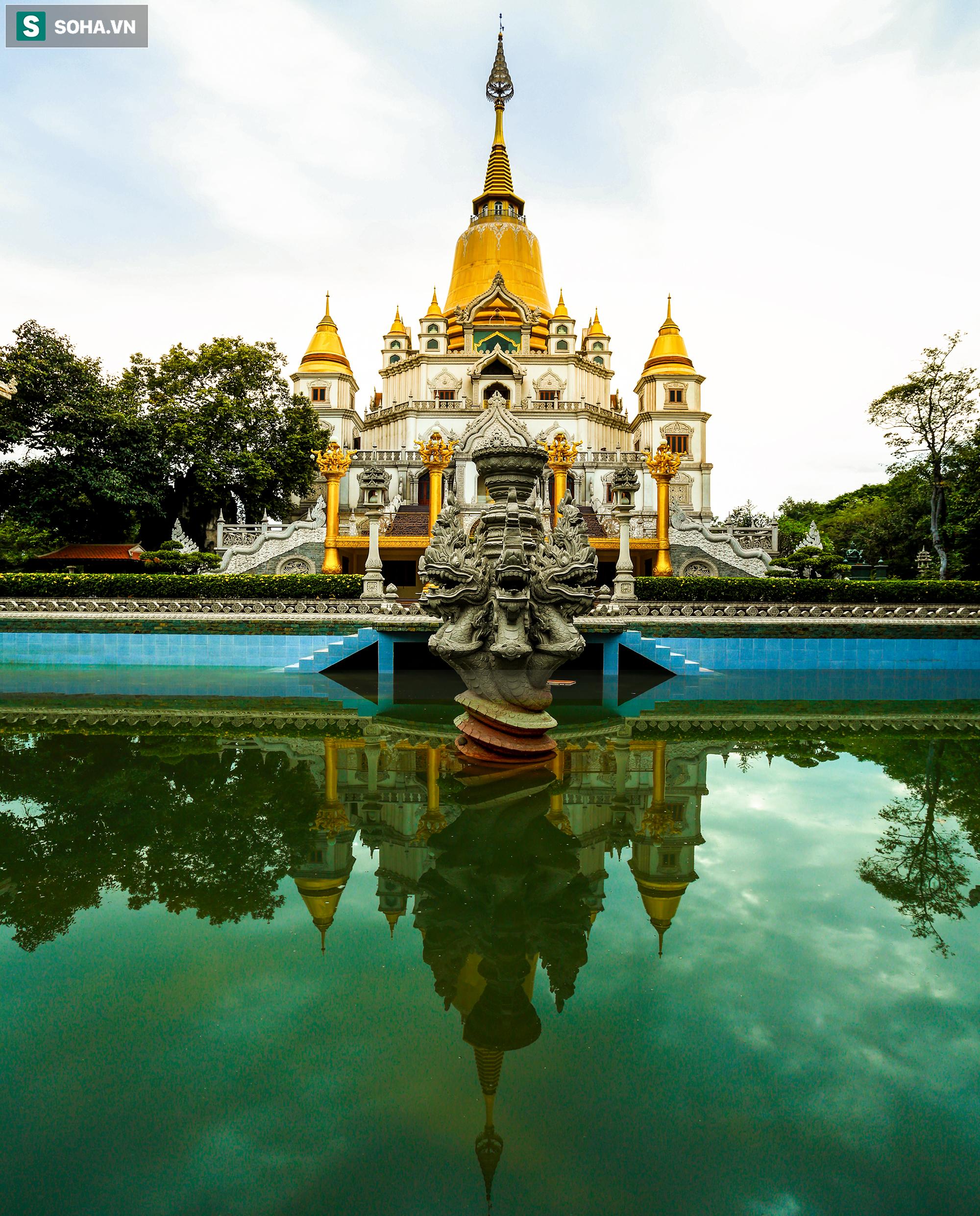 [Ảnh] Ngắm vẻ đẹp huyền bí của ngôi chùa lọt top đẹp nhất thế giới tọa lạc tại TP.Thủ Đức - Ảnh 5.