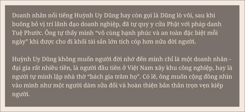 """Ông Huỳnh Uy Dũng: """"Sống được 30 năm nữa, mỗi năm tôi sẽ bán đi một vài tài sản, chia hết cho đời"""" - Ảnh 1."""