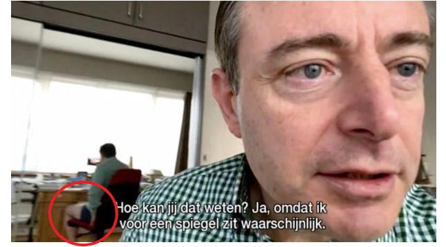 Thị trưởng đỏ mặt xấu hổ vì lộ cảnh hớ hênh khi trả lời phỏng vấn qua mạng - Ảnh 3.