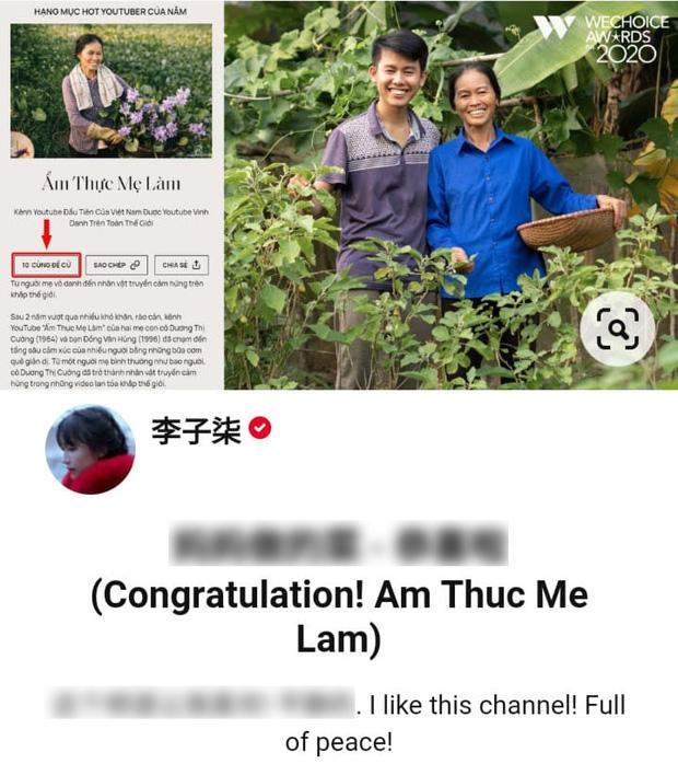 Lý Tử Thất bày tỏ sự yêu mến với kênh Ẩm Thực Mẹ Làm của Việt Nam, khen ngợi sự yên bình trong các video - ảnh 1