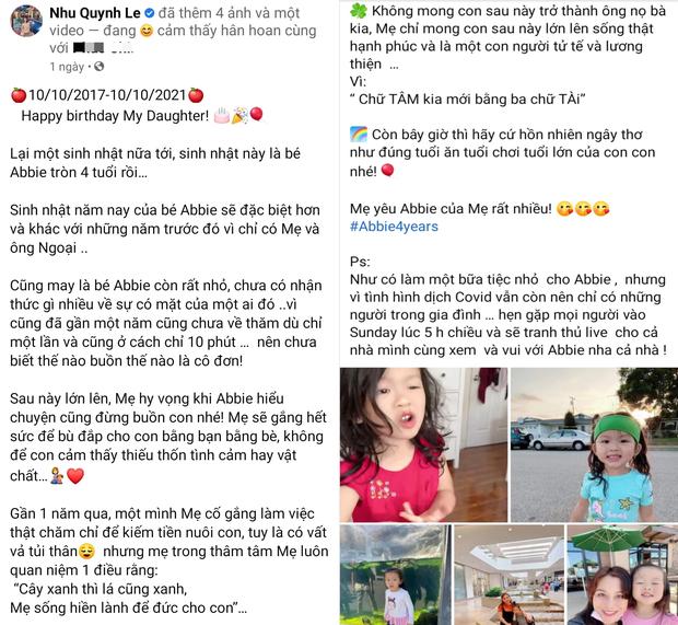 Quỳnh Như đá xéo Hoàng Anh trong ngày sinh nhật con gái, tiết lộ chồng cũ chưa từng thăm con trong 1 năm qua dù chỉ ở cách 10 phút - Ảnh 1.