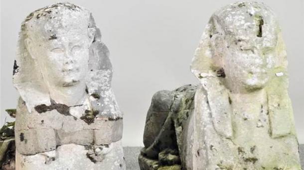 Lạ lùng tượng nhân sư Ai Cập được tìm thấy trong… vườn Anh: Nghe giá xong, chủ nhà đứng không vững - Ảnh 1.