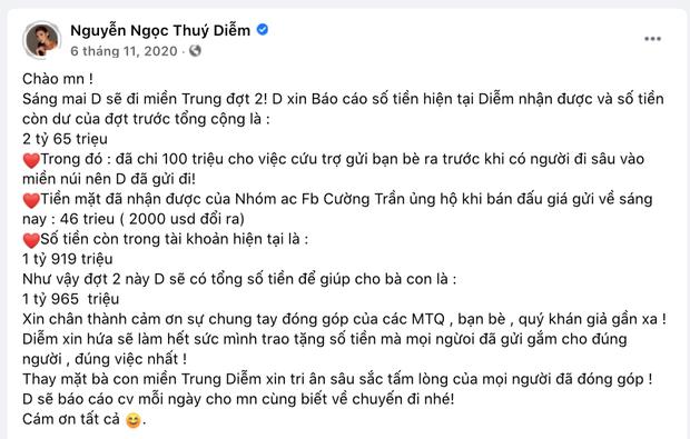 Thuý Diễm chính thức lên tiếng sau khi bị CEO Đại Nam gọi tên vào drama sao kê tiền từ thiện miền Trung! - Ảnh 2.