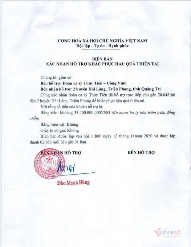 7 tỉnh miền Trung được Bộ Công an yêu cầu rà soát về hoạt động từ thiện của ca sĩ Thủy Tiên nói gì? - Ảnh 6.