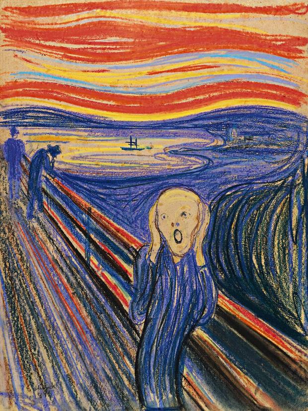 """Phóng to bức tranh kiệt tác """"Tiếng thét"""", hậu thế phát hiện chi tiết ẩn điên rồ mà vô cùng thú vị, mất hơn 100 năm mới giải mã được hoàn toàn - Ảnh 1."""