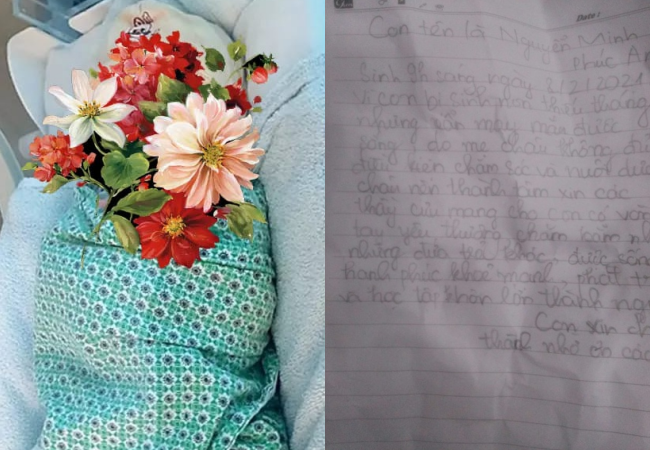Đứa trẻ bị bỏ rơi vào rạng sáng 29 Tết và lá thư để lại, nội dung khiến người ta quặn lòng - Ảnh 1.