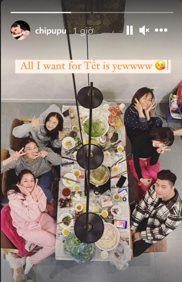 Hội bạn hotgirl Hà Thành của Chi Pu mở tiệc tất niên nhưng khác hẳn mọi năm: 3 thành viên tụ họp, còn Quỳnh Anh Shyn? - Ảnh 1.
