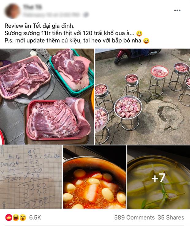 """Đã tìm ra đại gia đình có cỗ Tết """"khủng"""" nhất: 11 triệu tiền thịt, 120 trái khổ qua, 160 hột vịt nhưng chưa sốc bằng khối lượng củ kiệu - ảnh 1"""