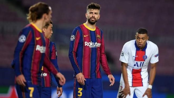 Hai sao Barca chửi nhau trong trận thua thảm PSG - Ảnh 1.