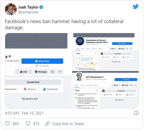 Facebook phát động chiến tranh tin tức với Úc - Ảnh 2.