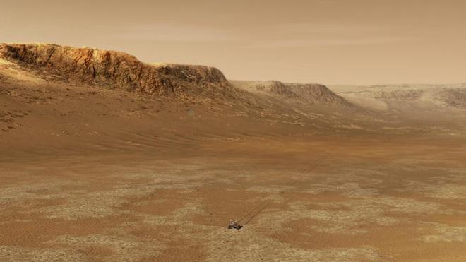 Tàu thám hiểm NASA vừa hạ cánh xuống sao Hỏa và đây là những hình ảnh đầu tiên được gửi về - Ảnh 4.