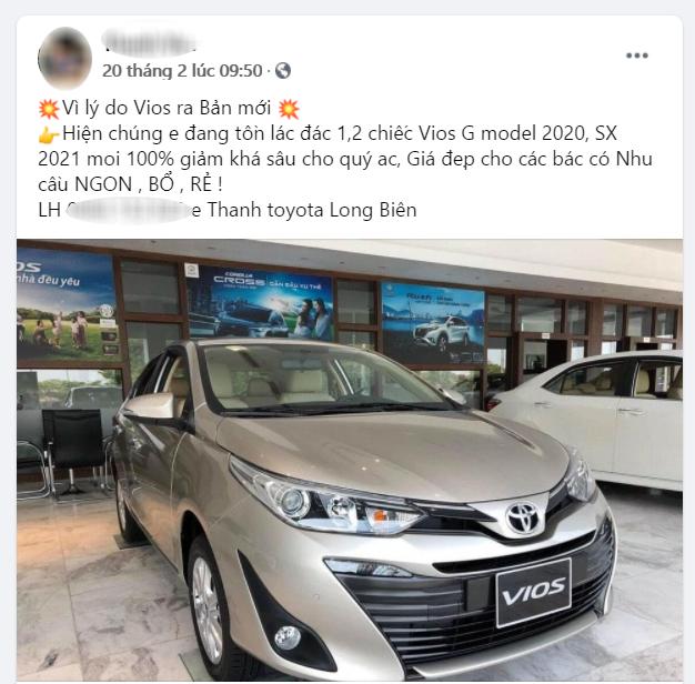 Toyota Vios giảm giá 30 triệu đồng dọn kho trước giờ G bản nâng cấp ra mắt - Ảnh 2.