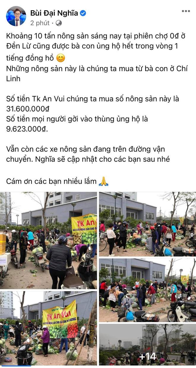 Ấm lòng giữa mùa dịch: MC Đại Nghĩa giải cứu 20 tấn nông sản trong 1 tiếng, xúc động vì hành động đẹp của người dân - Ảnh 2.