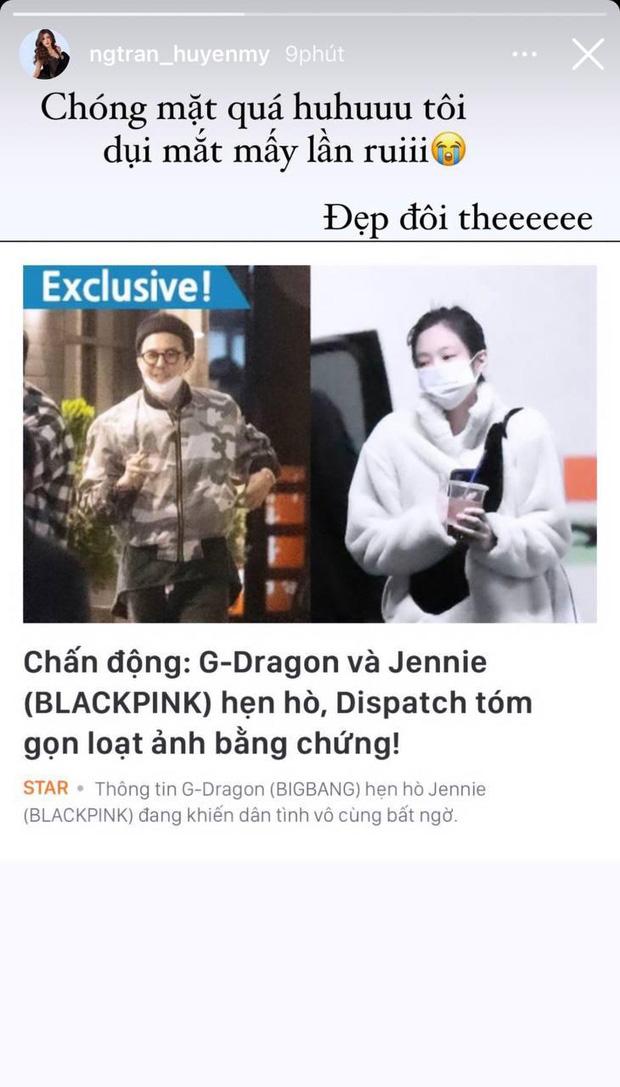 """Sao Vbiz rần rần vì tin G-Dragon và Jennie hẹn hò: Huyền My - Tóc Tiên """"xỉu ngang xỉu dọc"""", Diệu Nhi được gọi tên vì lý do này? - ảnh 1"""