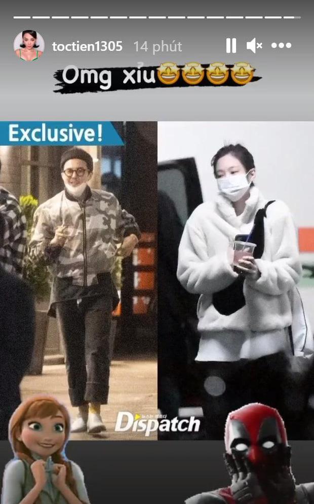 """Sao Vbiz rần rần vì tin G-Dragon và Jennie hẹn hò: Huyền My - Tóc Tiên """"xỉu ngang xỉu dọc"""", Diệu Nhi được gọi tên vì lý do này? - ảnh 2"""