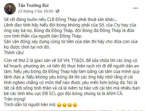 Thủ môn ĐT Việt Nam vướng vào lùm xùm không đáng có vì CLB cũ, phải lên tiếng thanh minh - Ảnh 1.