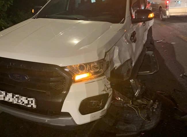 Hiện trường vụ tai nạn liên hoàn giữa xe container và 5 ô tô trên đèo Bảo Lộc - Ảnh 5.
