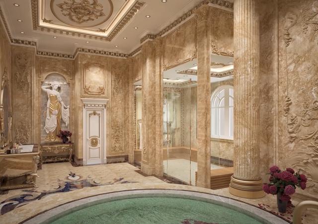 Lạc lối trong cung điện của đại gia Thành Thắng Group: Cao bằng toà nhà 18 tầng, diện tích sàn 15.000m2, 20 phòng ngủ, dát vàng khắp nơi  - Ảnh 12.