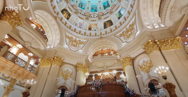 Lạc lối trong cung điện của đại gia Thành Thắng Group: Cao bằng toà nhà 18 tầng, diện tích sàn 15.000m2, 20 phòng ngủ, dát vàng khắp nơi  - Ảnh 4.