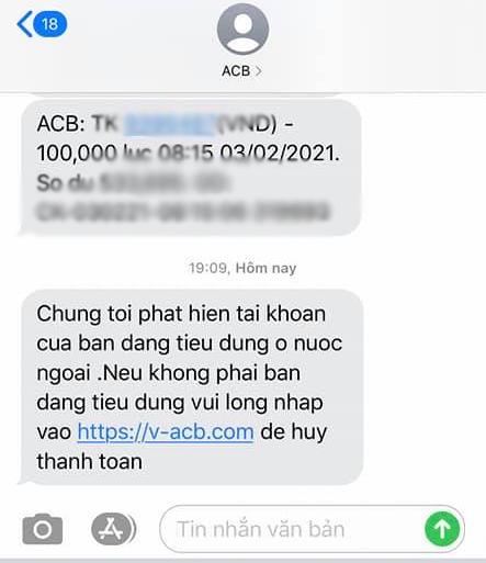Xuất hiện hàng loạt tin nhắn lừa đảo từ SMS Brand ngân hàng - Ảnh 1.