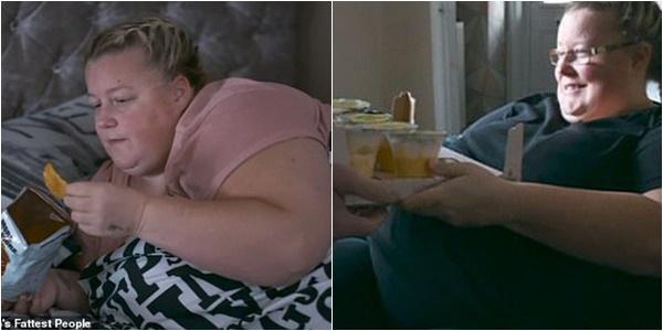 Vợ nặng 190 kg chỉ nằm yên một chỗ, chồng vẫn phục vụ nhu cầu ăn vặt cả ngày lẫn đêm - Ảnh 1.