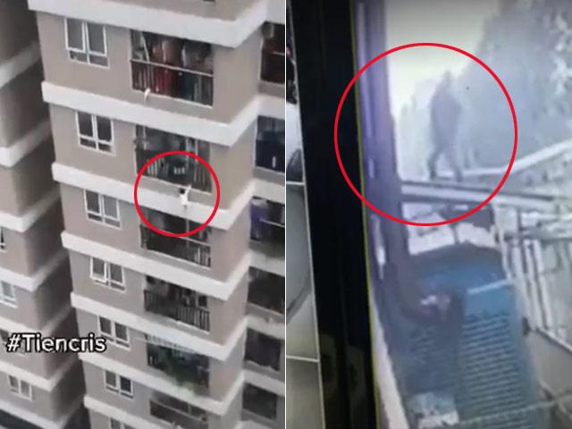 Người hùng trượt chân trên mái tôn dốc, nhưng vẫn cố nhoài người đưa tay ra đỡ được cháu bé rơi từ tầng 12A - Ảnh 6.
