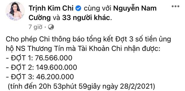 NS Trịnh Kim Chi công bố đã kêu gọi được hơn 270 triệu giúp đỡ NS Thương Tín, con gái vừa đến thăm bố ở bệnh viện - Ảnh 1.