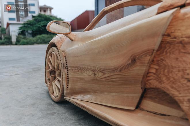 Ông bố trẻ chế tạo siêu xe Bugatti Centodieci bằng gỗ tặng con trai, chiều nào cũng vi vu trên đường - Ảnh 2.