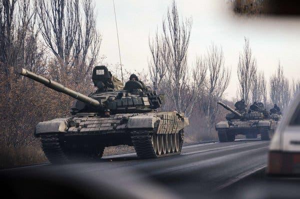 Hàng chục xe tăng của Donetsk vào vị trí, QĐ Ukraine có thể tấn công trong vài giờ tới - Nga đã bí mật ra tay ở Donbass? - Ảnh 1.