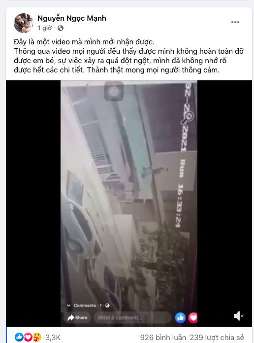 Góc quay khác cận khoảnh khắc Nguyễn Ngọc Mạnh cứu bé gái hơn 2 tuổi rơi từ tầng 12A chung cư xuống - Ảnh 2.
