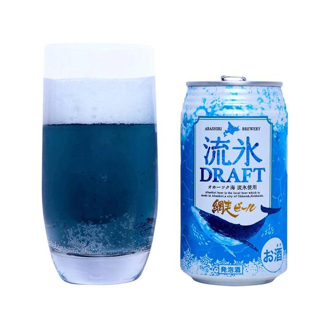 Độc đáo bia Nhật Bản màu xanh lam được làm từ... băng trôi - Ảnh 2.
