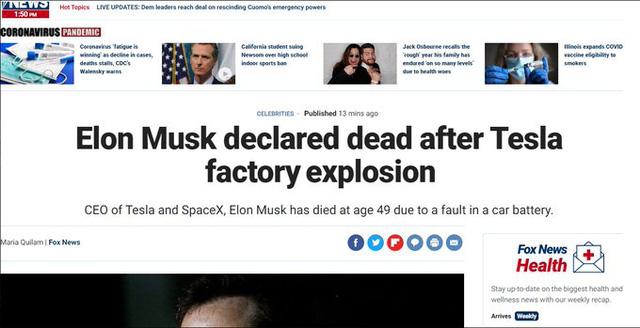 Elon Musk bị đồn qua đời, hashtag #RIPELON lan tràn khắp Twitter - Ảnh 1.