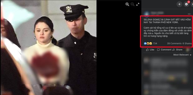 Facebook rầm rộ hình ảnh Selena Gomez bị bắt khẩn cấp với trang phục đầy máu, sự thật đằng sau gây phẫn nộ đỉnh điểm - Ảnh 1.