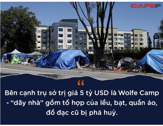 """""""Xóm vô gia cư"""" bên cạnh trụ sở 5 tỷ USD của Apple - Ảnh 2."""