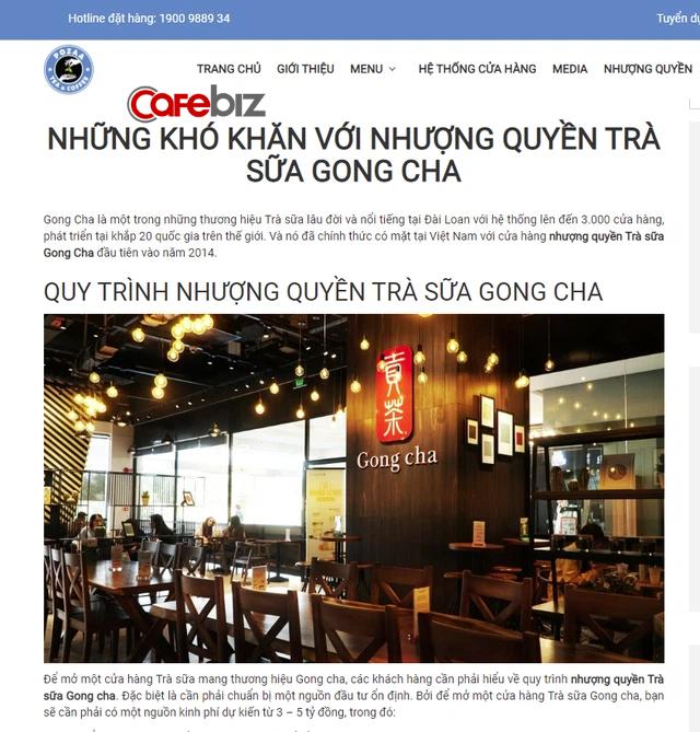 """Cạnh tranh vô duyên kiểu trà sữa Pozza Tea: Chê thẳng mặt Gong Cha thu phí nhượng quyền 3-5 tỷ đồng quá """"chát"""", mời chào giá rẻ chỉ bằng 1/10 - Ảnh 1."""
