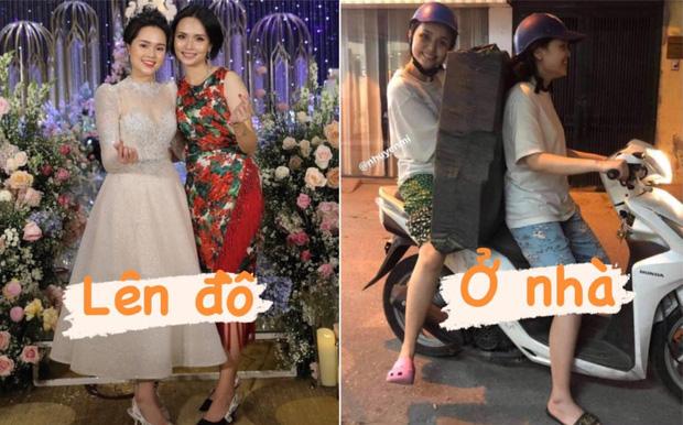 2 ái nữ nhà cựu Chủ tịch CLB Sài Gòn kéo dài series biến hình: Lên đồ lung linh bao nhiêu, ở nhà xuề xoà bấy nhiêu - Ảnh 1.