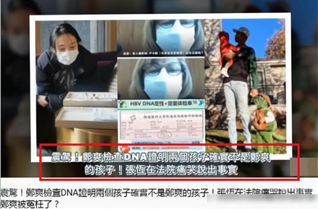 SỐC: 2 đứa trẻ không phải con của Trịnh Sảng theo kết quả xét nghiệm ADN, Trương Hằng giở thủ đoạn lợi dụng trẻ nhỏ? - Ảnh 1.