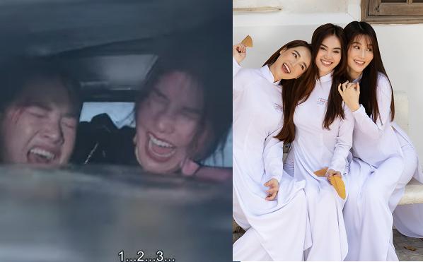 Khán giả thót tim với cảnh tai nạn xe của Diễm My, Ninh Dương Lan Ngọc và Nhã Phương