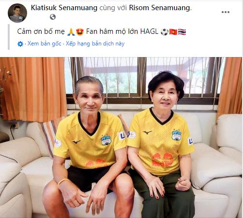 HLV Kiatisuk chia sẻ hình ảnh gây sốt của CĐV HAGL, fan Thái Lan vui mừng xen lẫn ngậm ngùi - Ảnh 2.