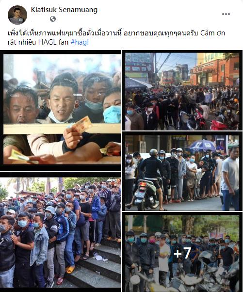 HLV Kiatisuk chia sẻ hình ảnh gây sốt của CĐV HAGL, fan Thái Lan vui mừng xen lẫn ngậm ngùi - Ảnh 1.
