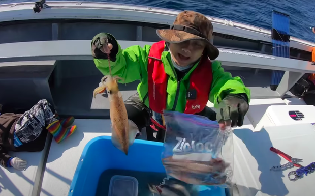 Tranh cãi việc nhà Quỳnh Trần JP ra biển câu cá mập con để ăn, cảnh máu me cũng được đưa ngay lên video - Ảnh 2.