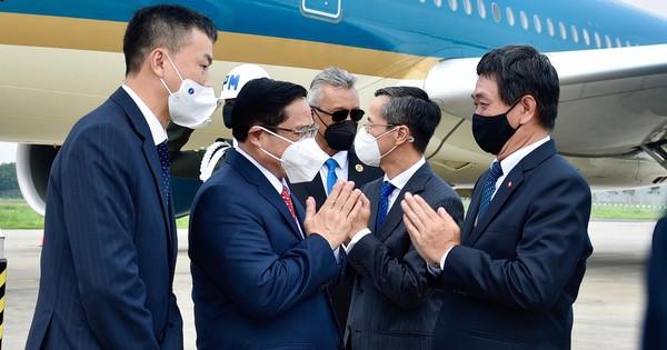 Hình ảnh Thủ tướng Phạm Minh Chính tới Indonesia, bắt đầu chuyến công tác  - Ảnh 2.