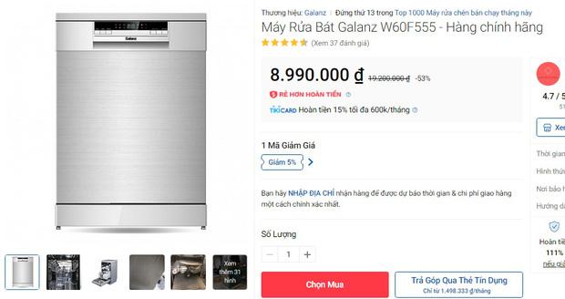 Máy rửa bát đang có giá siêu tốt: Từ 4,5 triệu là tậu được trợ thủ đắc lực giảm tải việc nhà - Ảnh 4.